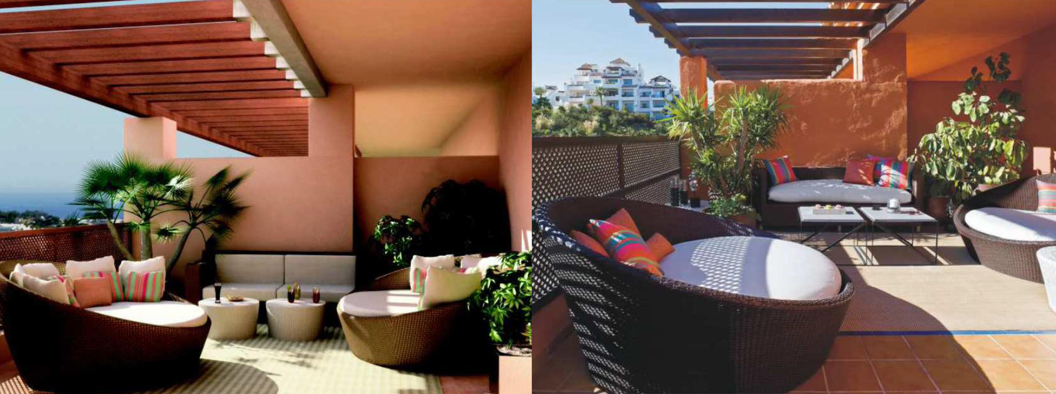 Diseño de interiores en terrazas