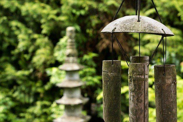Decoración Feng Shui en jardín