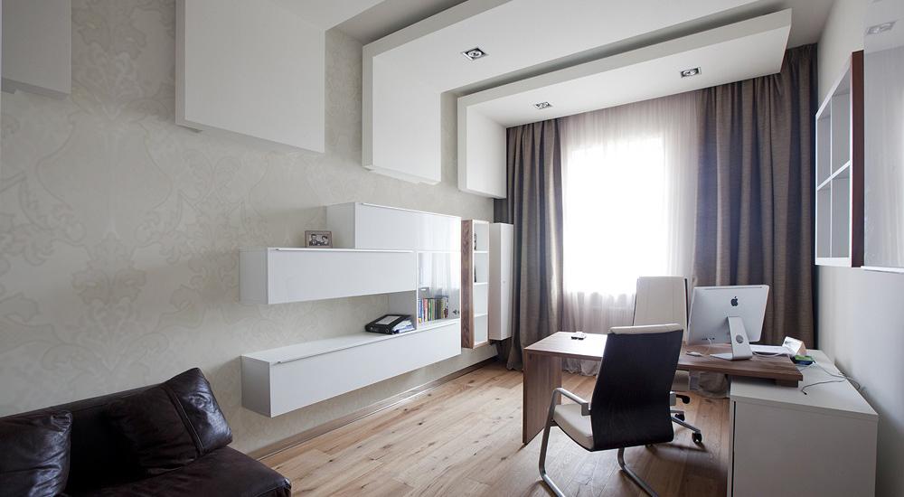 papel pintado en una habitación-oficina de vivienda
