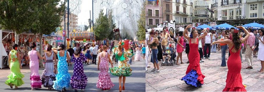 Decoracion y ambiente en la Feria de Málaga