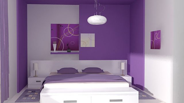 la decoración en el color del dormitorio