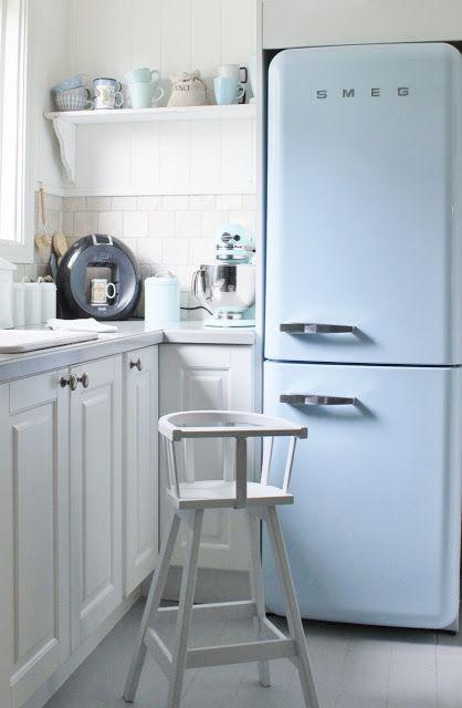 Decorar la cocina con colores Pantone 2016, Serenity