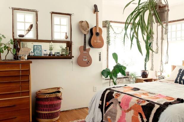 Dormitorio estilo boho o bohemiaa Dimensi-on