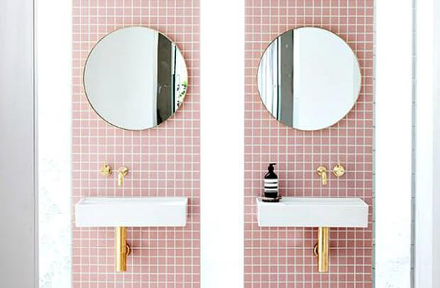 Tendencia decoracion 2017 azulejos rosa Dimensi-on