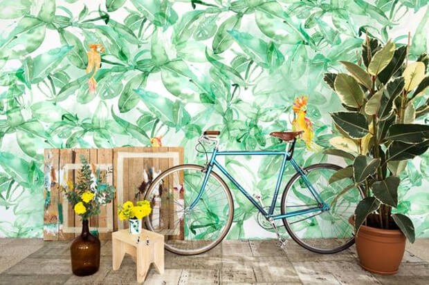 Tendencias decoracion 2017 papel pintado tropical Dimensi-on