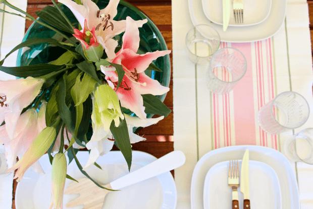Como decorar y vestir una mesa primaveral Dimensi-on