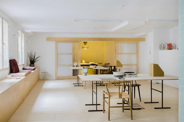 Oficina de diseño con encanto en Malasa+¦a Madrid Dimensi-on