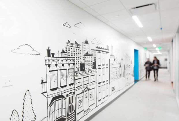 Oficinas Placester diseño imagen corporativa Dimensi-on