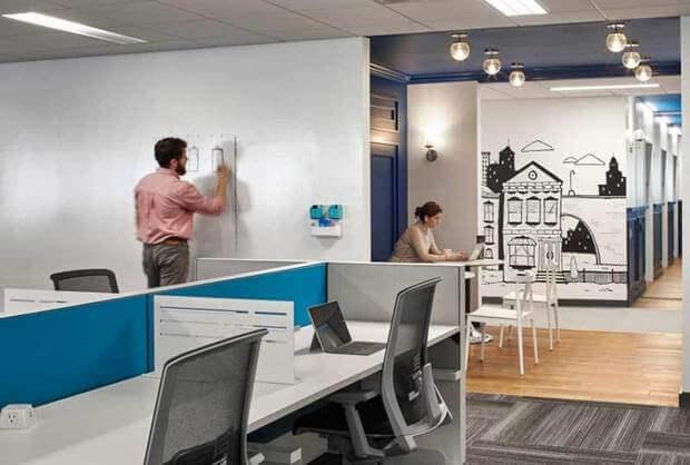 Oficinas originales Placester diseño interiorismo decoracion y arquitrectura Dimensi-on