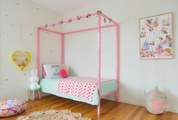 Decoracion habitaciones infantiles pintar rosa y azul Dimens-ion