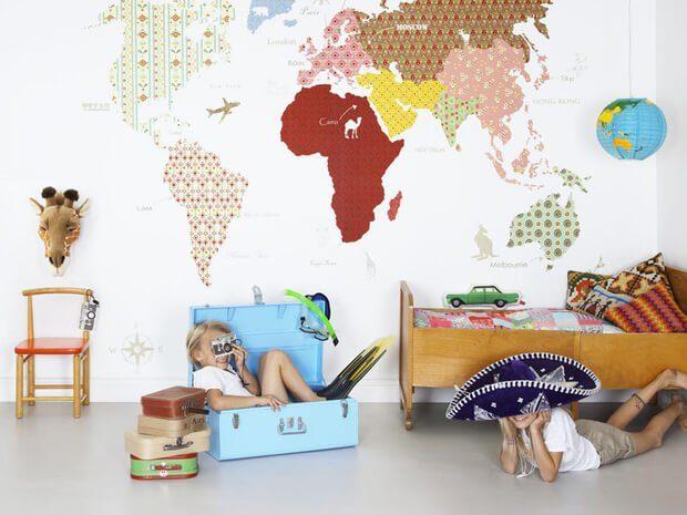 Ideas y consejos para decorar empapelar y vinilos dormitorios infantiles