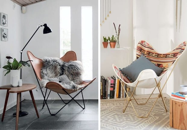 Sillas de dise+¦o modelo Butterfly Chair Dimensi-on