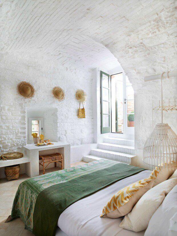 Decoración dormitorio verano sombreros de paja Dimensi-on