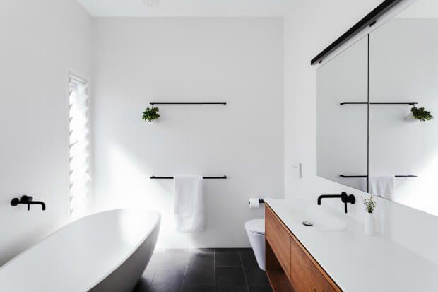 Baño de diseño minimalista grifos negro Dimensi-on