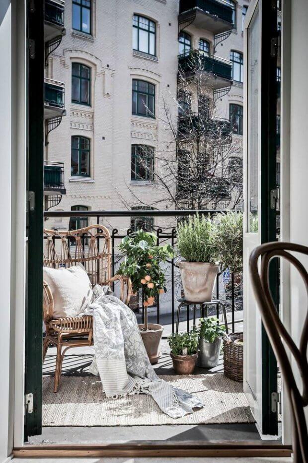 Decorar terrazas con poco espacio textiles Dimensi-on