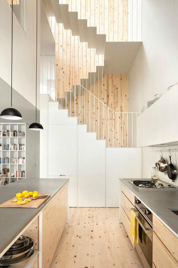 Tipos de escalera en proyectos de interiorismo Dimensi-on