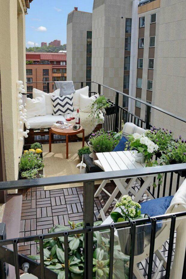Muebles para decorar una terraza pequeña Dimensi-on