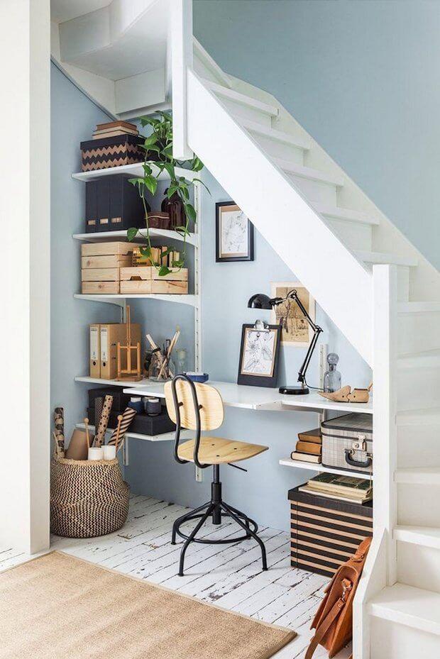 Esapacios de trabajo en casa: almacenaje