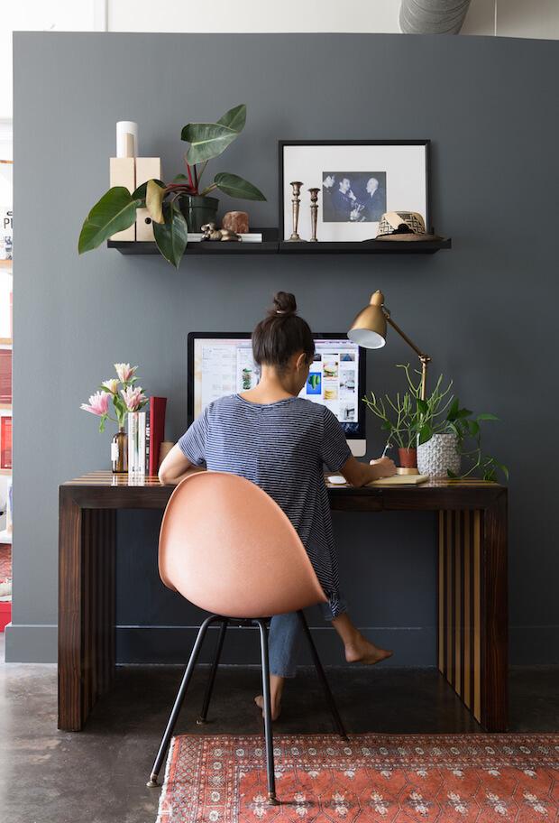 Lugar de trabajo: oficina y despacho en casa