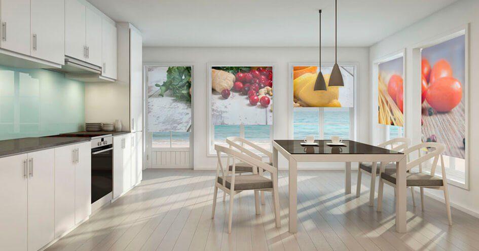 Los estores personalizados visten tu cocina a la moda - Estores enrollables cocina ...