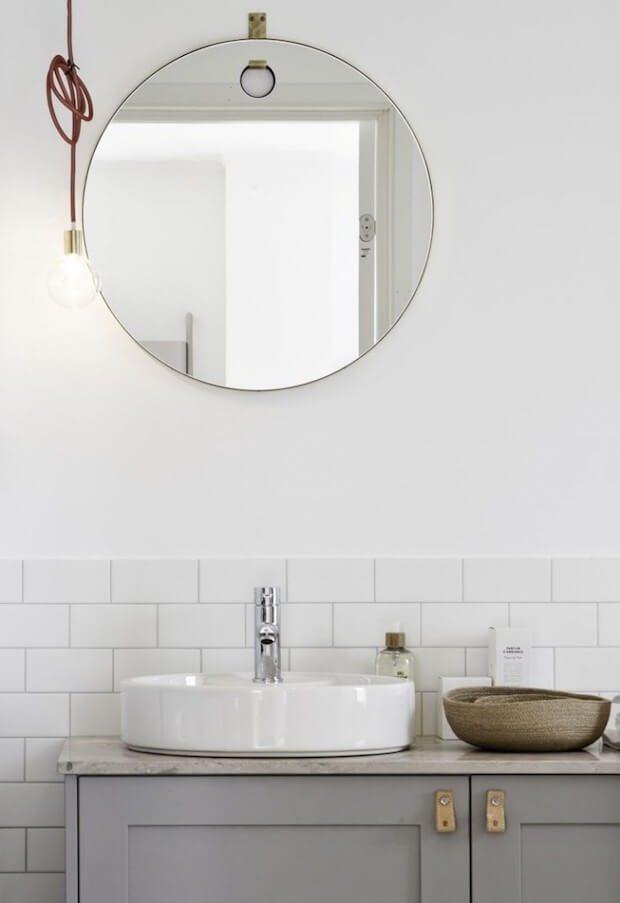 Tiradores de cuero para muebles de baño - Dimensi-on