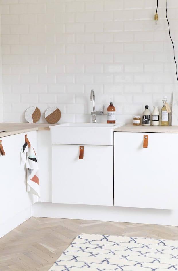 Tiradores de cuero muebles de cocina - Dimensi-on
