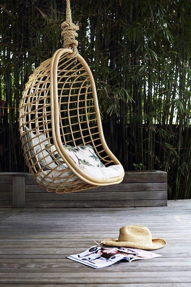 Muebles de caña: silla colgante - Dimensi-on