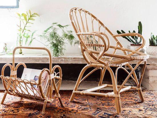 Como decorar con muebles de caña para el verano - Foto: Tiretta living