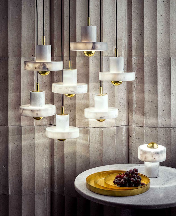 Tendencias en ilumiancion: lamparas de diseño Stone Pendant Light de Tom Dixon