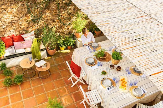 Comedores exteriores para terraza