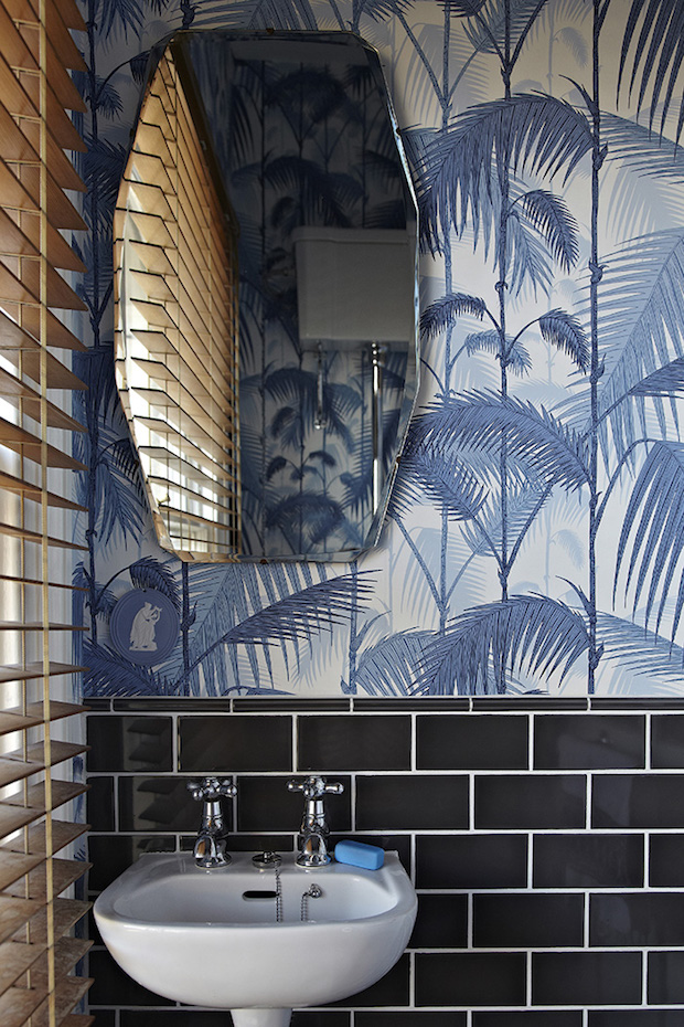 Baños empapelado papel pintado tropical