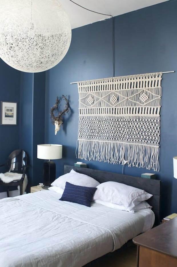 Cabecero cama tapiz colgado