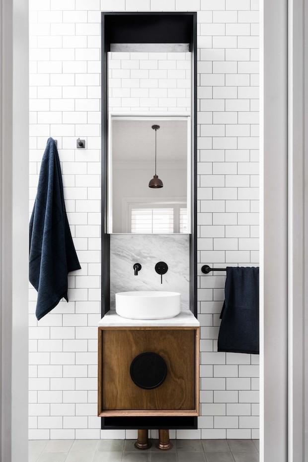 Griferías negras tendencia baños