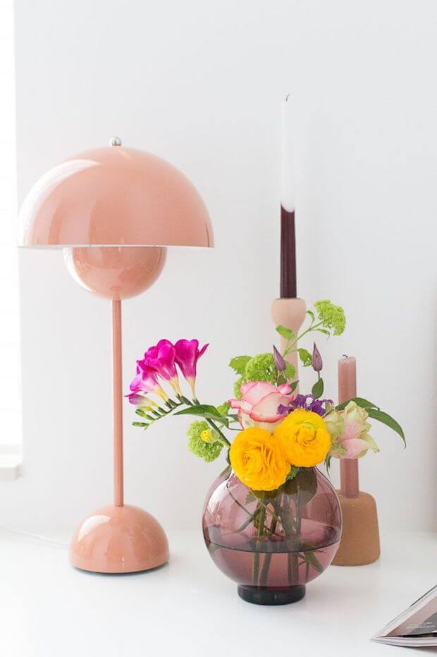 Tendencias decoración otoño 2018 color rosa