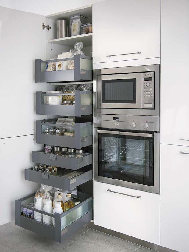 Cocinas actuales soluciones de almacenado