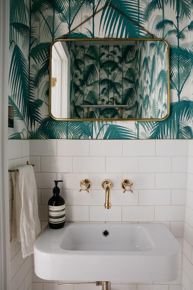 Tendencias decoración 2018 papel pintado baños