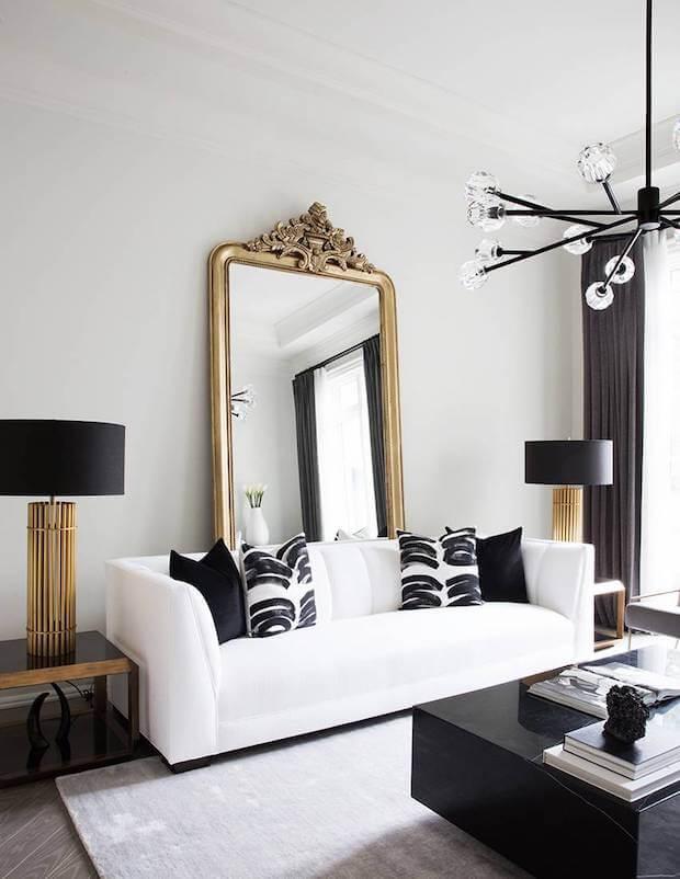 Cómo decorar un salón en blanco y negro