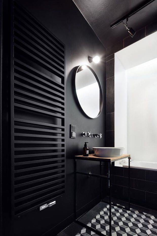 Claves para decorar un baño en blanco y negro