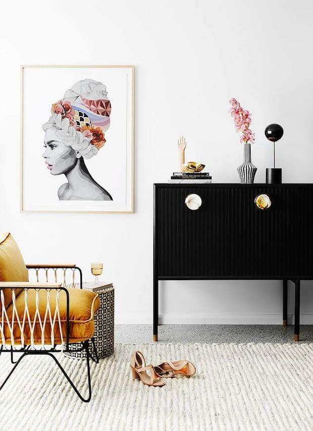 Amarillo mostaza en casas y su decoración