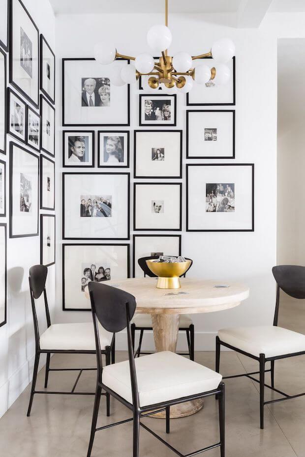 Decoración blanco y negro cuadros
