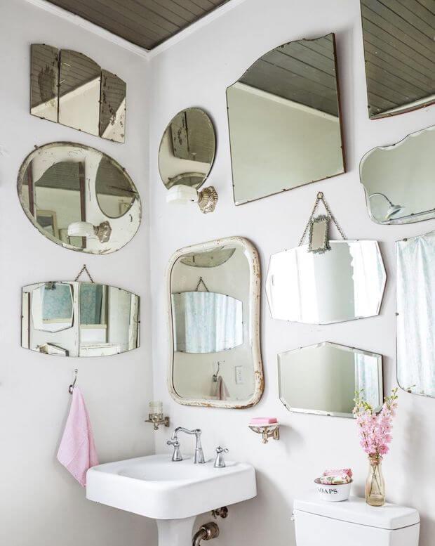 Ideas para decorar con colección de espejos