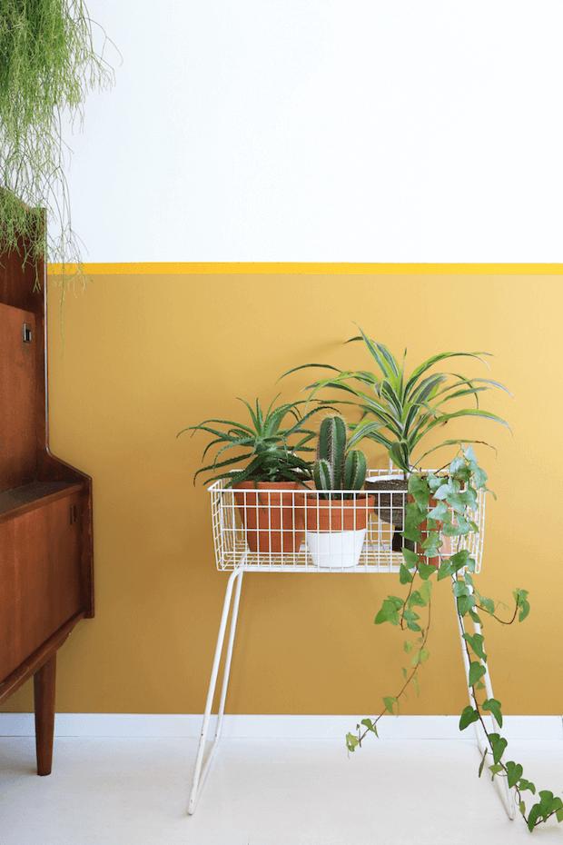 Combinar amarillo y verde en decoración