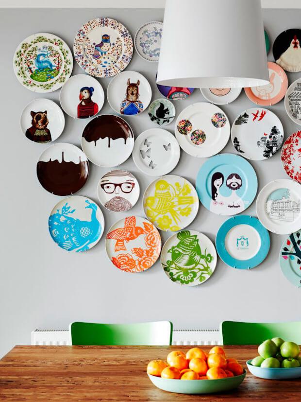 Decoración con colecciones de platos