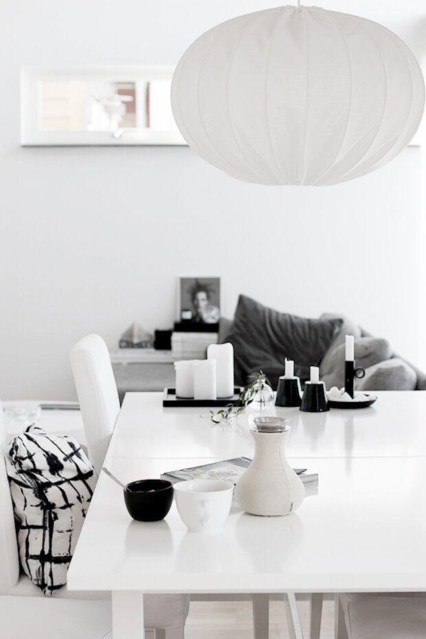 Ideas decoración blanco y negro