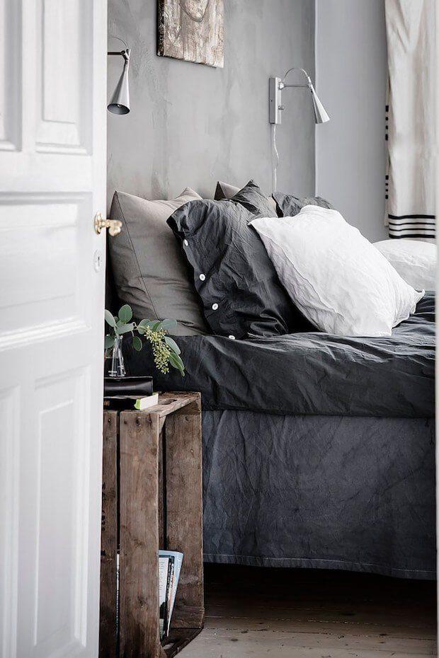 Decoración blanco y negro para dormitorio