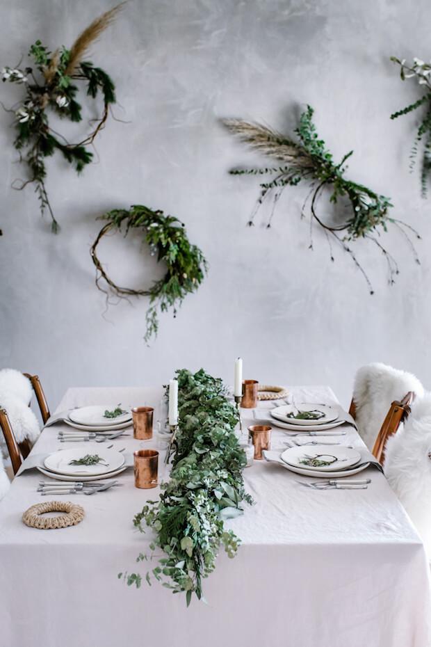 Decoración navideña mesas