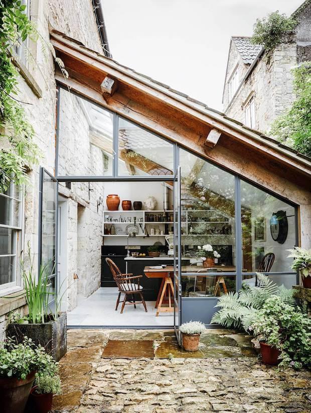 Terraza cerrada en vidrio