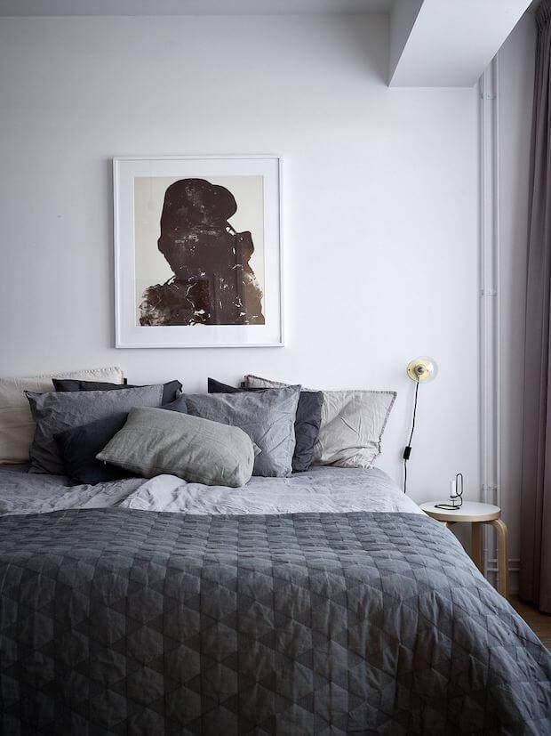 Ropa de cama de lino y algodón