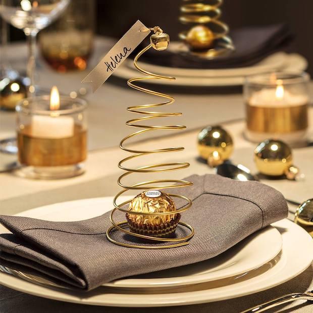 Detalles decoración mesas de Navidad 2018