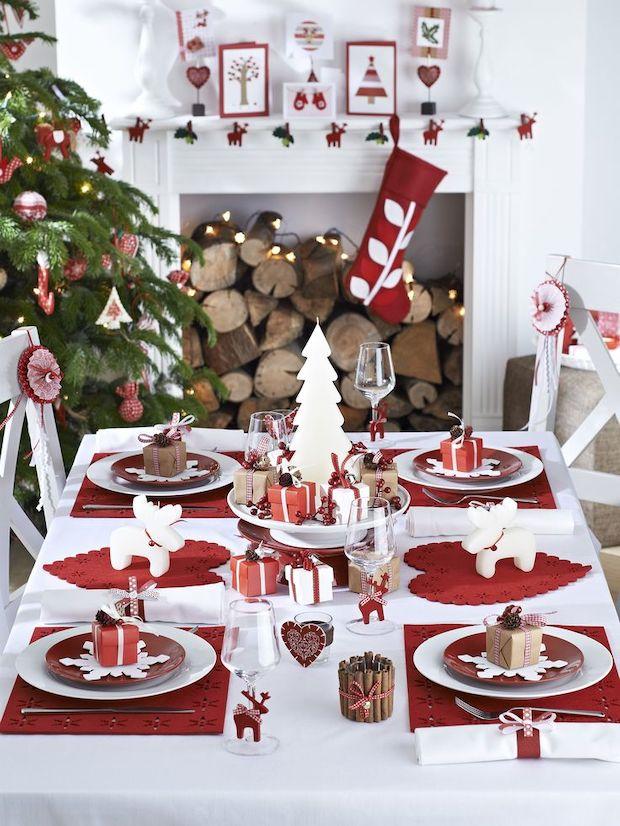 Como decocrar mesas de navidad originales